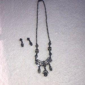 Jewelry - Smoky quartz brown topaz necklace and earring set